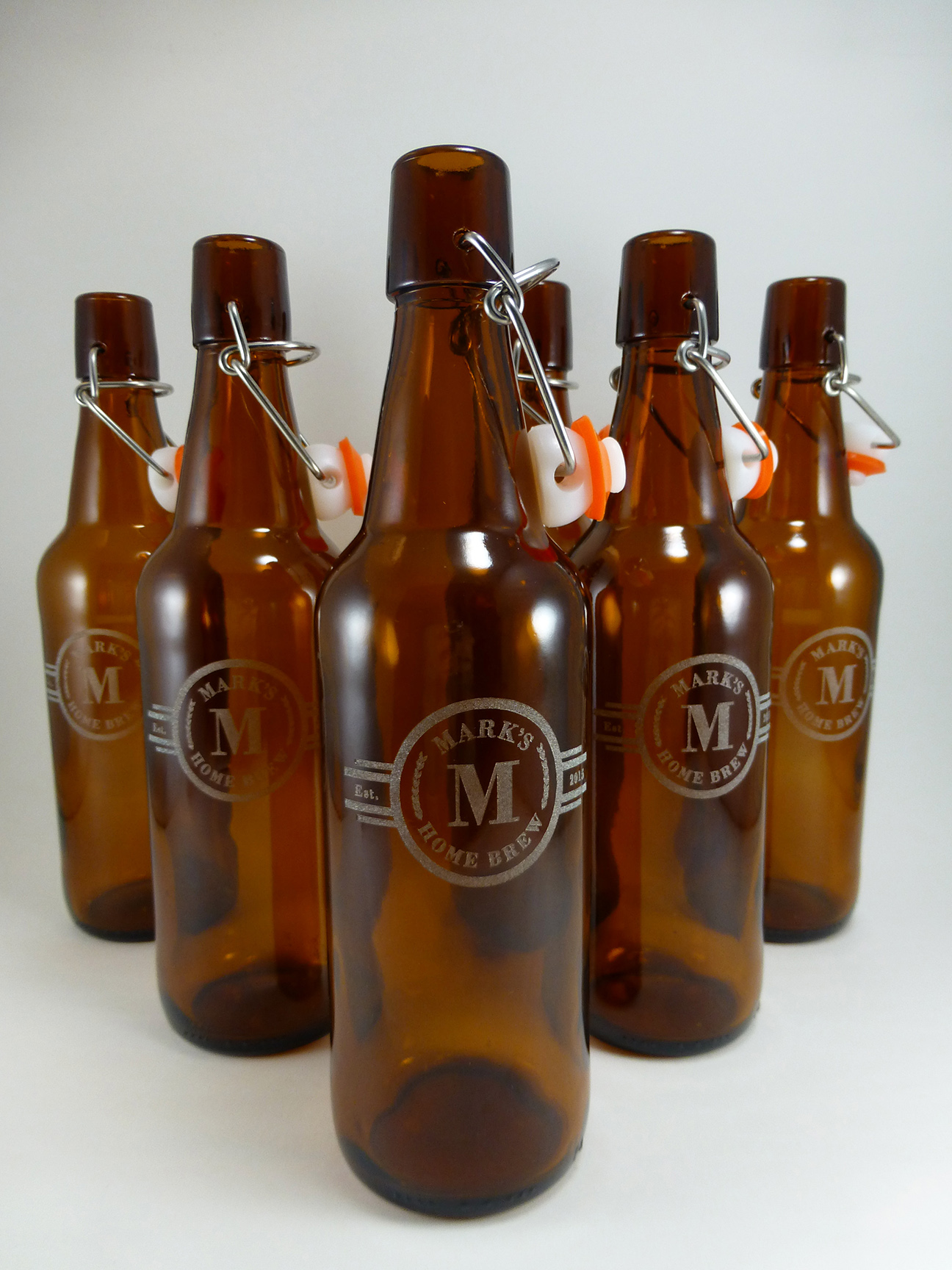 Custom Beer bottle engraved label