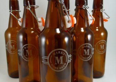 Custom Beer bottle engraved label